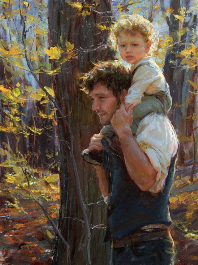 The Father is the only one who can carry his son…